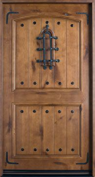Knotty Alder Solid Wood Front Entry Door - Single