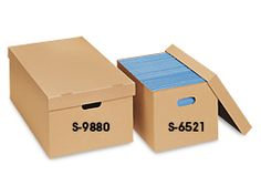 5d113462423 Uline stocks a wide selection of economy storage file boxes with lids.