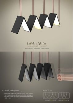 Very cool adjustable folding light Deck Lighting, Home Lighting, Modern Lighting, Luminaire Design, Lamp Design, Lighting Concepts, Lighting Design, Luminaire Original, 3d Interior Design
