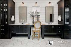 Custom floor plans & interior design by Clark & Co Homes Custom Home Builders, Custom Homes, Cottage Style Bathrooms, Farmhouse Bathrooms, Master Bathrooms, Small Bathrooms, Beautiful Bathrooms, Flex Room, Bathroom Pictures