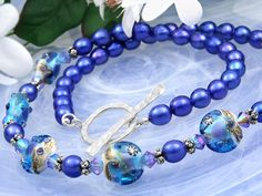 Starry Night Necklace ~ Free design idea from the Artbeads Learning Center!
