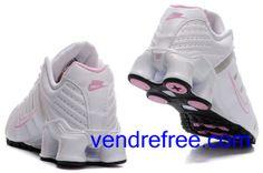 on sale 5c0e2 cac92 Vendre pas cher Femme Nike Shox NZ Chaussures  (couleur vamp-blanc sole-rose,noir,interieur logo-blanc,rose) en ligne en  France.