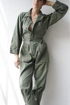 fce67b63548617 Vintage green military jumpsuit shop.mayasommer.com www.depop.com mayasommer