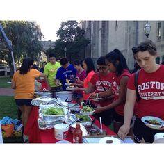 Come get your nacho on! BU Beach!  #NachoBar #SojournBU #BU #BostonUniversity #ProudToBU #WOW2015 @bustudentactivities by sojourn_bu