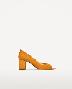 Image 2 of OPEN LEATHER HIGH HEEL SHOES from Zara