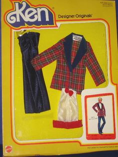 Barbie Ken Doll Paint The Town Red Outfit MIB Designer Originals 1979 | eBay