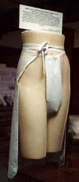 Sanitary apron c. 1914. Something similar was probably used in the 19th century.