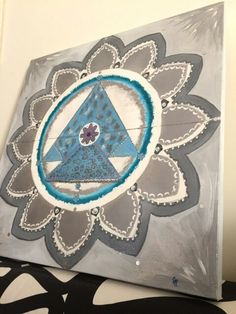 Mandala art. Light blu silver...Complete...