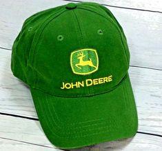 331ba313ce9 Vintage Snap Back Hat John Deere Cotton Cap Adjustable  JohnDeere   BaseballCap Cool Stuff For