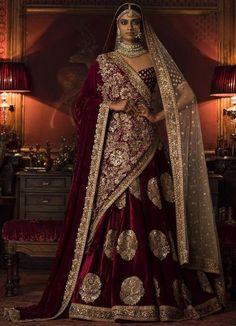 Stunning Maroon Bridal Lehenga Choli