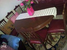 Mesa de jantar de abrir e quatro cadeiras Mafamude E Vilar Do Paraíso - imagem 1