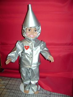 The Tin Man of the Wizard of OZ by DesignerDollClothes on Etsy, $30.00