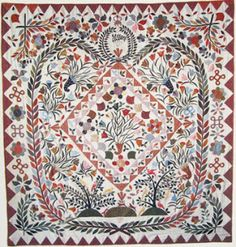 Applique Quilt, 1813-1814  Ann Robinson  Collection of the Shelburne Museum