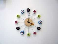 Skateboard clock! Will have to do this for my son's new room.