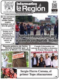 Lea la Edición impresa digital No. 2209 #Zitácuaro, Mich. 4/Octubre/2017. http://issuu.com/laregionenlinea/docs/laregion2209/1 #Michoacan