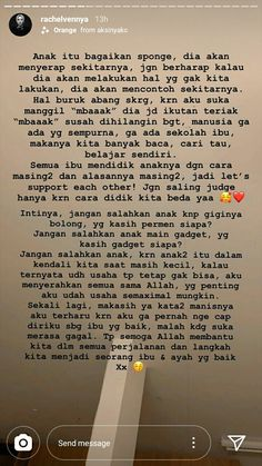 Quotes Indonesia, Kids And Parenting, Words Quotes, Best Quotes, Parents, Knowledge, Teaching, Life, Random
