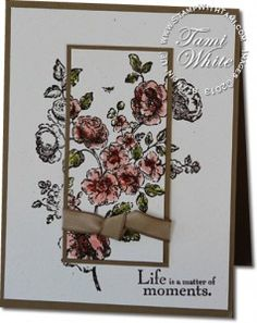 Stampin' Up! Elements of Style stamp set. Double Time - Spotlighting Techniques. Click for video tutorial.