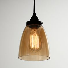 Cloche, Ambre, Kit, Light Bulb, Lighting, Home Decor, Pendant Lights, Color, Light Fixtures