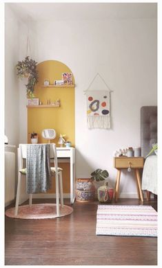Ikea Kids Desk, Ikea Wall Desk, Home Office Decor, Diy Home Decor, Ikea Micke, Small Home Offices, Aesthetic Room Decor, New Room, Diy Bedroom Decor