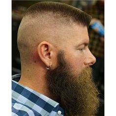 45 Exquisite Flat Top Haircut Designs - New Style In 2019 Chin Beard, Gay Beard, Beard No Mustache, Top Hairstyles For Men, Haircuts For Men, Summer Haircuts, Great Beards, Awesome Beards, Hipster Photo
