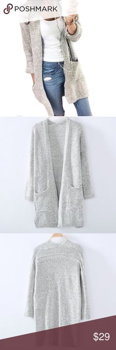 Beautiful Gray Soft Cozy Sweater! Soft Gray Comfy Sweater! Sweaters Cardigans