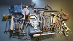Lot of 35 Vintage Rusty Tools and Junk Lot Broken Parts and Pieces & Misc 17lbs #RustyJunkLot