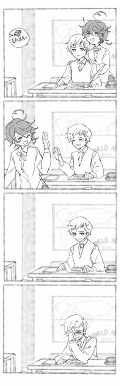Imágenes Norman x Emma, del anime The promised neverland. My Little Pony Games, Shadow Art, Cute Comics, Anime Art Girl, Awesome Anime, Neverland, Me Me Me Anime, Anime Couples, Kawaii Anime