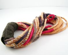 Scarf necklace loops infinity neck wrap neck warmer  by piabarile, $31.00