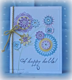 Gina's Little Corner of StampinHeaven: February Stamp of the Month - A Happy Hello