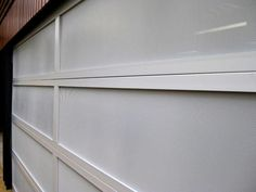 Aluminium frame with perforated aluminium inserts. Custom Garage Doors, Garage Door Design, Custom Garages, Sectional Garage Doors, Laser Cut Panels, Custom Design, Garage