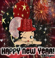 betty boop merry christmas and happy new year Happy New Years Eve, Merry Christmas And Happy New Year, Happy Holidays, Imagenes Betty Boop, Black Betty Boop, Betty Boop Cartoon, Happy New Year Images, Betty Boop Pictures, New Year Wishes