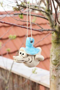 Gartenfiguren - Lustiger Baumvogel Billy - ein Designerstück von Tonkistchen bei DaWanda