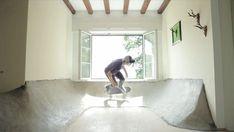 Villa transformed into an indoor skate park