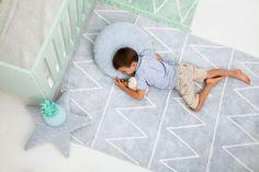 Teppich Washable Baumwolle Hippie blau 120x160 von Lorena Canals
