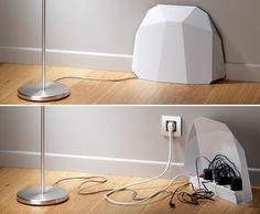 20 ideas geniales para organizar cables y enchufes en casa!