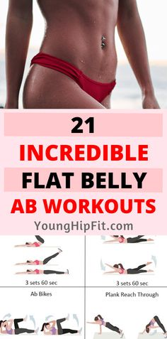 21 Incredible Flat Belly Ab Workouts Flat belly ab workouts for women. 21 highly effective ab routines for women that are perfect for all levels of fitness! Check out all 21 women's ab workouts by reading this article! Toning Workouts, At Home Workouts, Fitness Exercises, Abdominal Exercises, Belly Exercises, Ab Routine, Abs Workout For Women, Flat Belly, Flat Stomach