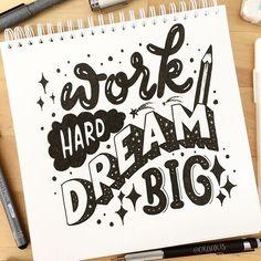 Work Hard DREAM Big! ✏️✍️ Jumping back in day 13 of #JanuaryLetteringMotivation . . And 14/365 of my project!!! #orahandlettering #365daysoflettering #365daysoftype . . #calligraphy #lettering #handlettering #handletteringnewbie #modernlettering #moderncalligraphy #dailylettering #letteringchallenge #dailychallenge #brushpen #typespire #typography #typographyinspired #brushtype #type #typedesign #typematters #artoftype #goodtype #typegang #handdrawntype #handmade #handmadefont #handwrit
