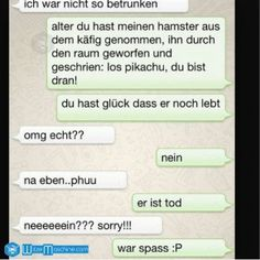 Funny WhatsApp Pictures and Chat Fails 109 - Hamster Pikachu .- Lustige WhatsApp Bilder und Chat Fails 109 – Hamster-Pikachu – WitzeMaschine Funny WhatsApp Images and Chat Fails 109 – Hamster Pikachu – Jokes Machine - Text Messages Crush, Funny Text Messages Fails, Text Message Fails, Funny Fails, Funny Friday Memes, Funny Memes, Funny Quotes, Pikachu Funny, Funny Minion