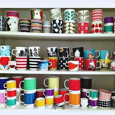Marimekko mug collection Marimekko, Room Decor, Mugs, Instagram Posts, Tablewares, Northern Soul, Finland, Porcelain, Decor Ideas