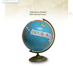 "Customizable ""Adventure Awaits"" globe by ImagineNations"
