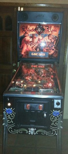 Black Rose Pinball Bally Pirates Theme Game w Cannon - played in Auburn Hills, MI