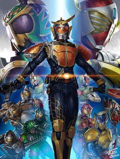 """語り尽くせばキリが無いですが、このイラストと共にこれだけ…  <strong><span style=""""color:#fe3a20;"""">仮面ライダー鎧武に携わった制作スタッフ、キャストの皆様、本当にお疲れ様でした! そして、素晴らしい作品をありがとうございます!!</span></strong>"""