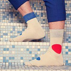 Socke Kojima Designkollektion 'Blaustich' - Männer Socken / Strümpfe für Herren