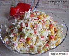 Surówka z porem - Kobieceinspiracje.pl Snack Recipes, Healthy Recipes, Snacks, Healthy Food, Pasta Salad, Quinoa, Potato Salad, Side Dishes, Cabbage