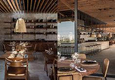 Casa cook   Kos   Daniella Witte Casa Cook, Cafe Bar, Concrete Floors, Restaurant Bar, Ibiza, Interior And Exterior, Minimalism, Flooring, Table Decorations