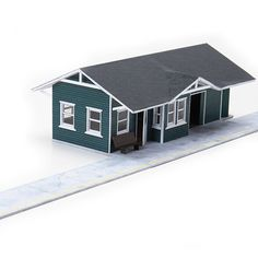 The Cricket Depot paper model kit is a small rural combination depot – meaning it handles both passengers and freight. This classic wood depot has a full interior complete with desks and benc…
