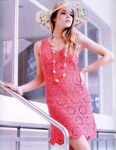 Elegant summer dress patternhandmade crochet summer dress