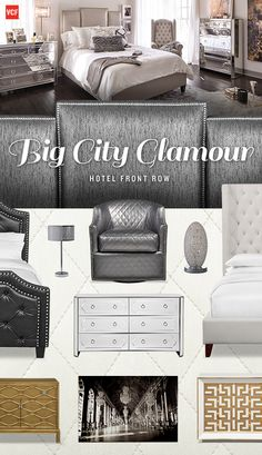 Inspired by Chicago's up-and-coming fashion scene, our Hotel Front Row collection keeps your bedroom trendy yet still timeless.
