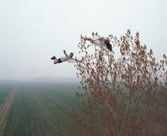 """More by Li Wei """"using mirrors, camera lenses, steel wires and old school acrobatics."""""""