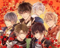 The beauties of Ikemen Sengoku. Moth Drawing, Midnight Cinderella, Ninja Art, Video Game Anime, Manga Boy, Anime Boys, Shall We Date, Kawaii, Cute Nail Art
